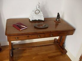 Antique William IV Rosewood Library table