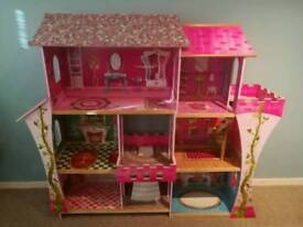 Princess dolls house with furniture