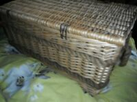 Large Willow Hamper With Rope Detail - Storage/ display/ logs etc