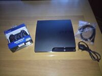 Sony PlayStation 3 Slim 120GB Charcoal Black Console. Immaculate Condition!