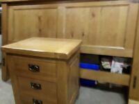 Solid Oak KingSize 5ft Bed and Bedside locker