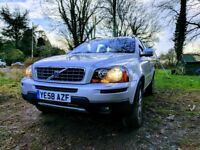Volvo XC90 D5 2008 Silver Auto 2.4 7-seater leather interior AWD with towbar