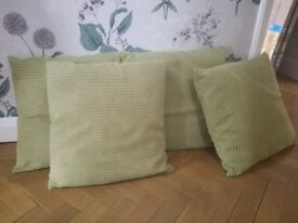 X4 olive green cushions