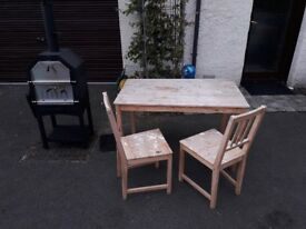Free - table and 2 chairs