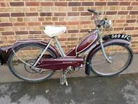 RALEIGH MOPED RM2 1959. VERY RARE. ALL ORIGINAL..