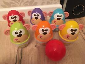Chicco bowling monkeys