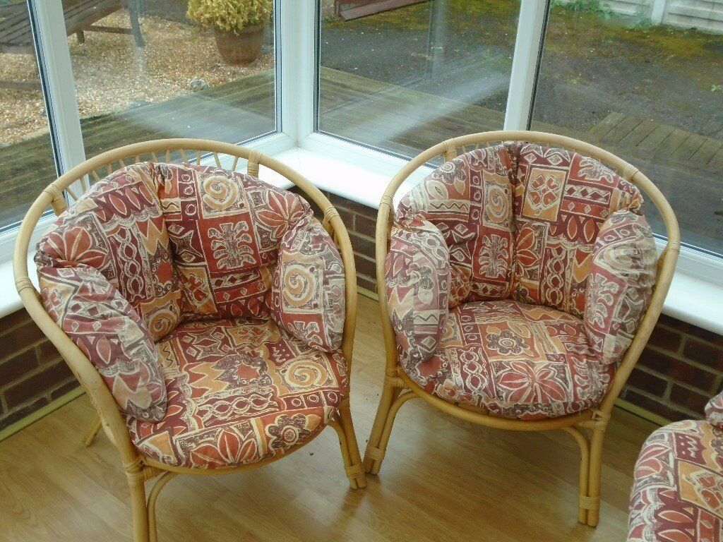 cane furniture 3 piece suite