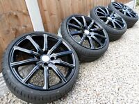 "18"" KHAN ALLOY WHEELS & NEW TYRES 4x108 *REFURBED* citroen ds3 ford fiesta st"