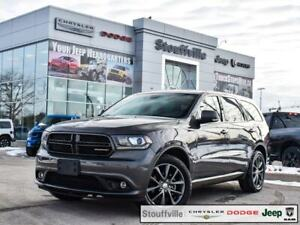 2018 Dodge Durango GT, AWD, Navi, DVD, Sunroof, Only 26,900 KMS