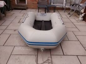 INFLATABLE DINGHY WAVELINE 270 , OUTBOARD TRANSOM , DINGY TENDER RIB SIB FISHING BOAT