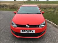 VW Polo Match 1.4, Red, 5 door, FSH, MOT May 2019, Excellent