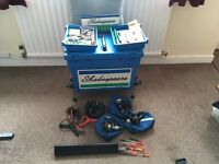Shakespeare fishing box and assorted tackle