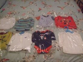 JOB LOT BABY BOY CLOTHES BUNDLE - 0-3 months x 18 - great condition