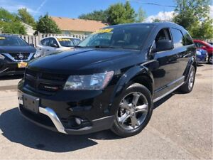 2016 Dodge Journey Crossroad NAV LEATHER/CLOTH SUNROOF 7 PASSENG