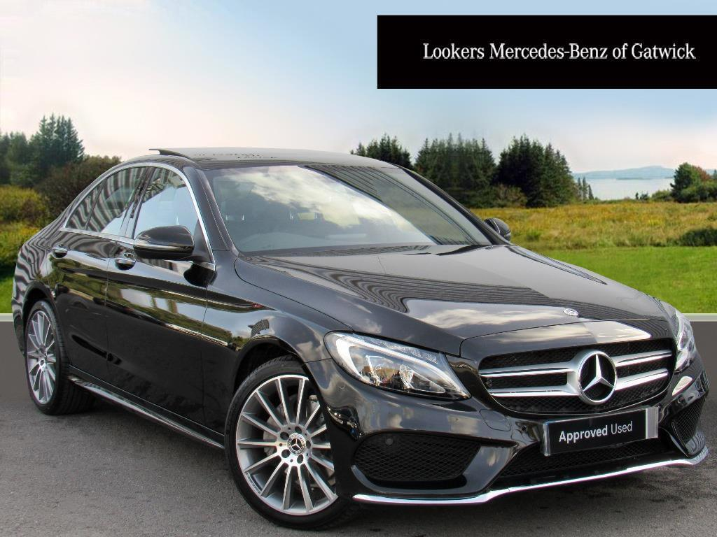 mercedes benz c class c 220 d 4matic amg line premium black 2017 09 30 in crawley west. Black Bedroom Furniture Sets. Home Design Ideas