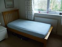 Single bed and mattress from Marks and Spencers In good condition and hardly ever used