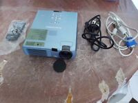 Untested Mitsubishi Lcd Projector With Remote Control and all other Cables.