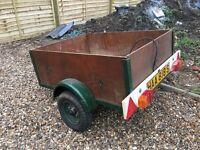 Car trailer towing garden