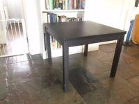 IKEA Extendable table - BJURSTA - Black/Brown