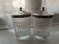 Barbicide Jars x2