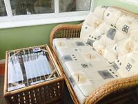 Conservatory sofa and glass table cheap price £35