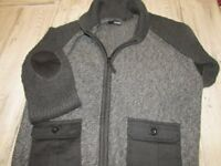 Boys Black / Grey Knitted Cardigan made by George