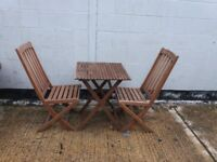 patio set 2 chairs and table bistro style ** i can deliver **