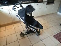 Quinny Zapp xtra in black, with rain cover