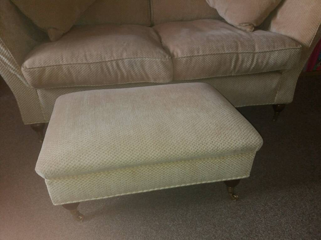 Absolutely stunning Marks and Spencer 4 piece suite. 2 chairs, sofa and footstool. Golde