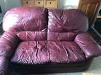 Burgundy 2 seater n 2x single seaters FREE TO COLLECT ASAP