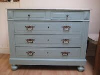Stunning Marble Topped French Vintage Chest of Drawers - Professionally painted in F&B Eggshell