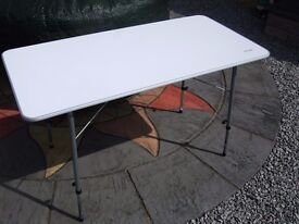 Vango folding 'birch' camping table - white