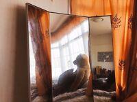 Stunning Large Full Length Triple Pane Mirror