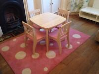 Children's chairs and table