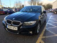 Nov 2011 (Reg-61) BMW 320D Efficient Dynamics 4-door Black Saloon, £20 per year Tax,
