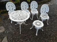 Iron cast chair s table set