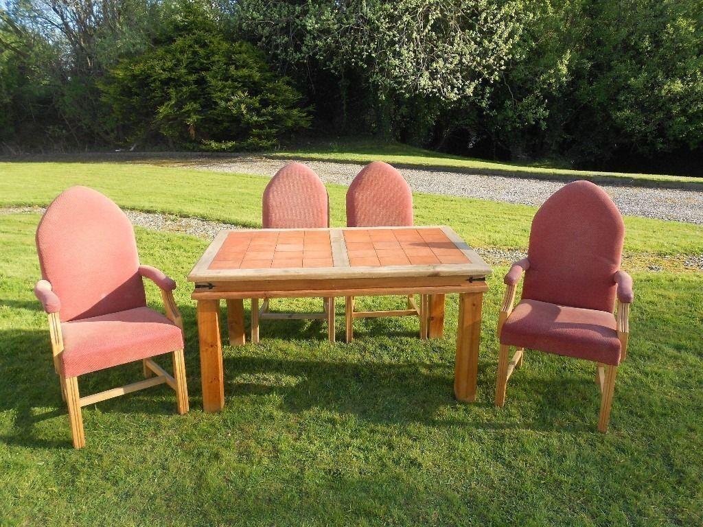 Chunky Pine Farmhouse Kitchen Table + Gothic Chairs