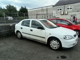 White Vauxhall Astra 1995 year, MOT, goes well, some rust on the body.