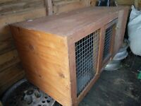 Wooden guinea-pig/rabbit hutch for indoor use