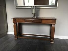 Wooden hall console table