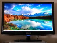 "23""SAMSUNG LED/LCD TV IN THE BOX BUILTIN FREEVIEW HDMI&USB PORTS WITH REMOTE CAN DELIVER"