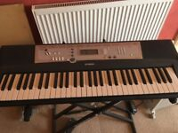 Yamaha Keyboard with stand and sustainer pedal