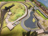 N gauge model railway layout size 7ft x 3ft