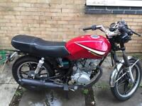 Shineray xy125cc 2007 cafe racer style , 1 year m.o.t