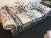 sofa for 3 seaters and 2 separate chairs in a good condition