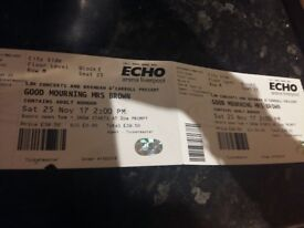 2 tickets for Good Mourning Mrs Brown