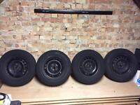 VW Golf mk5 mk6 wheels with tyres