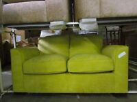Lime Green 2 Seater Fabric Static Sofa