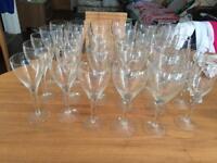 Wine glasses (whiskey shot, flute red, white wine glasses)