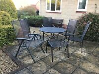 Metal black garden furniture table and chairs
